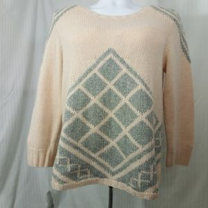 J. CREW HANDKNIT TILE SWEATER THICK WOOL & CASHMER